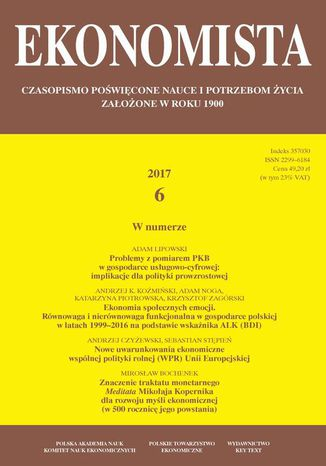 Okładka książki Ekonomista 2017 nr 6