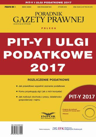Okładka książki PIT-y i ulgi podatkowe 2017. Rozliczenie podatkowe
