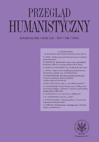 Okładka książki Przegląd Humanistyczny 2015/2 (449)