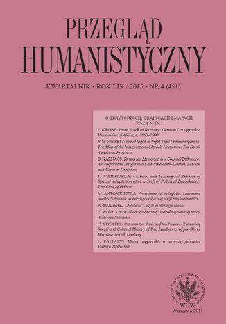 Okładka książki Przegląd Humanistyczny 2015/4 (451)