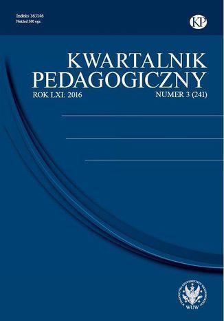 Okładka książki Kwartalnik Pedagogiczny 2016/3 (241)