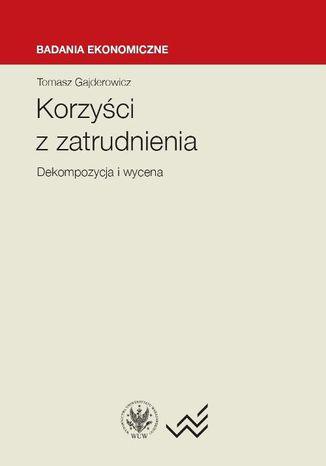 Okładka książki/ebooka Korzyści z zatrudnienia. Dekompozycja i wycena