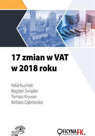 Okładka książki 17 zmian w VAT w 2018 roku