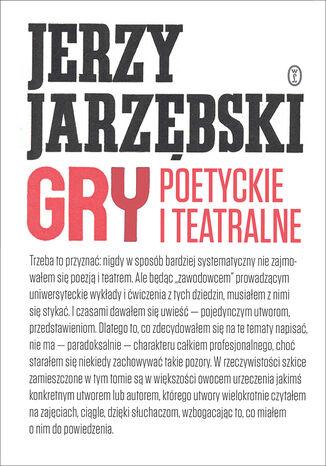 Okładka książki Gry poetyckie i teatralne