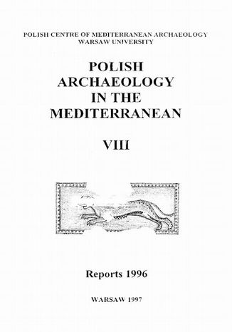 Okładka książki Polish Archaeology in the Mediterranean 8. Reports 1996