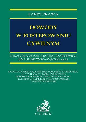 Okładka książki Dowody w postępowaniu cywilnym