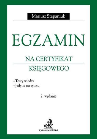 Okładka książki Egzamin na certyfikat księgowego. Testy wiedzy