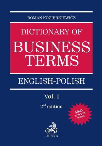 Okładka książki/ebooka English-Polish Dictionary of Business Terms. Tom I