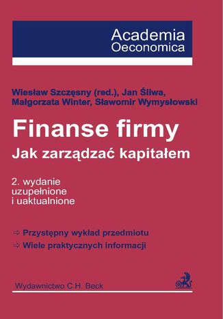 Okładka książki/ebooka Finanse firmy. Jak zarządzać kapitałem