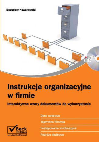 Okładka książki/ebooka Instrukcje organizacyjne w firmie