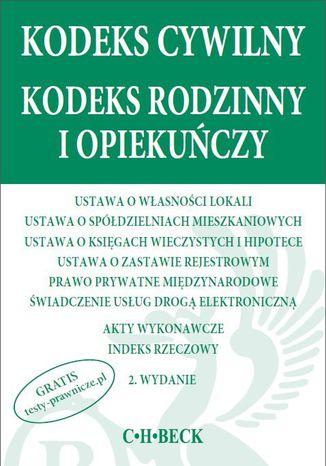 Okładka książki/ebooka Kodeks cywilny Kodeks rodzinny i opiekuńczy