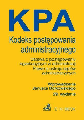 Okładka książki/ebooka Kodeks postępowania administracyjnego