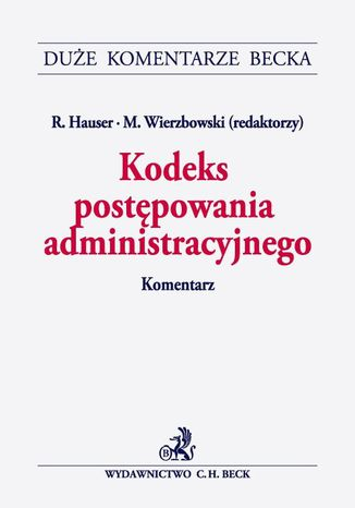 Okładka książki Kodeks postępowania administracyjnego. Komentarz