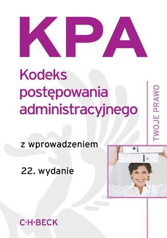 Okładka książki Kodeks postępowania administracyjnego z wprowadzeniem