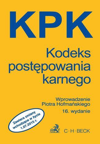 Okładka książki/ebooka Kodeks postępowania karnego
