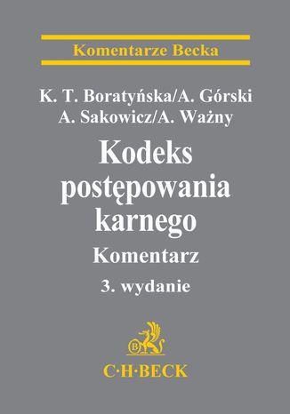 Okładka książki/ebooka Kodeks postępowania karnego. Komentarz