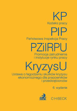 Okładka książki Kodeks pracy Państwowa Inspekcja Pracy Promocja zatrudnienia i instytucje rynku pracy Ustawa o łagodzeniu skutków kryzysu ekonomicznego dla pracowników i przedsiębiorców