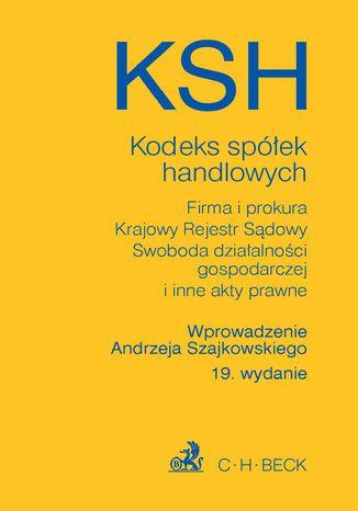 Okładka książki Kodeks spółek handlowych