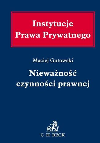 Okładka książki Nieważność czynności prawnej