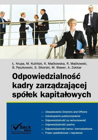 Okładka książki/ebooka Odpowiedzialność kadry zarządzającej spółek kapitałowych