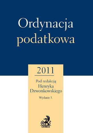 Okładka książki/ebooka Ordynacja podatkowa 2011