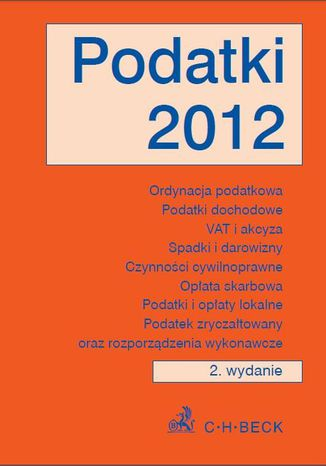 Okładka książki/ebooka Podatki 2012