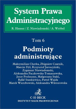 Okładka książki Podmioty administrujące. Tom 6