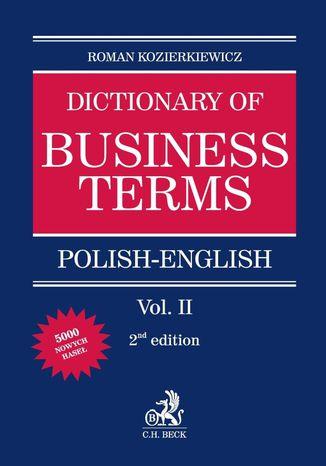 Okładka książki Polish-English Dictionary of Business Terms. Tom II