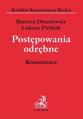 Okładka książki/ebooka Postępowania odrębne. Komentarz