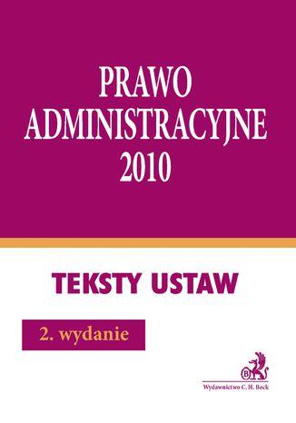 Okładka książki/ebooka Prawo administracyjne 2010