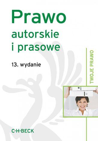 Okładka książki/ebooka Prawo autorskie i prasowe