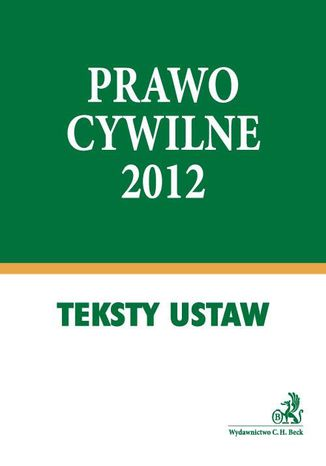 Okładka książki Prawo cywilne 2012