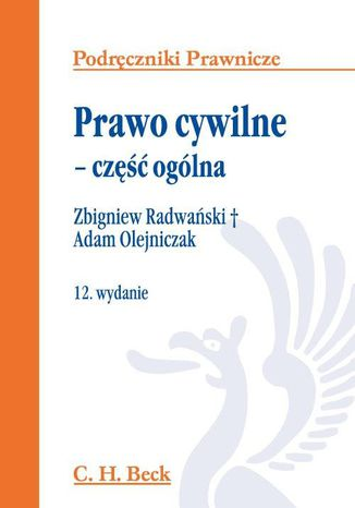 Okładka książki Prawo cywilne - część ogólna