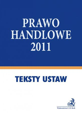 Okładka książki/ebooka Prawo handlowe 2011 - format A4