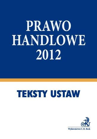 Okładka książki Prawo handlowe 2012 - format A4