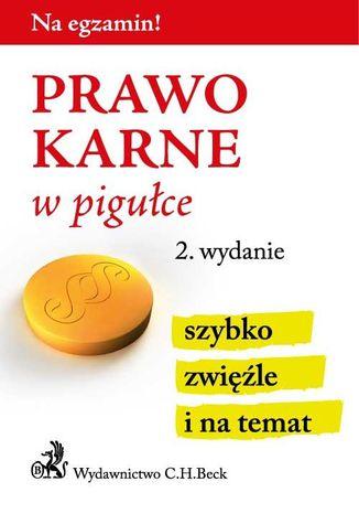 Okładka książki/ebooka Prawo karne w pigułce. Wydanie 2