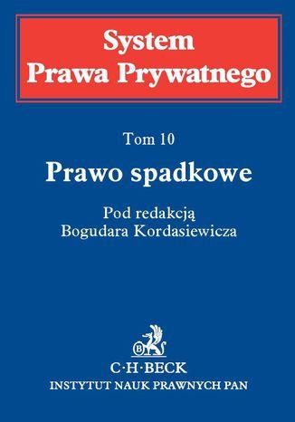 Okładka książki/ebooka Prawo spadkowe. Tom 10