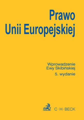 Okładka książki Prawo Unii Europejskiej
