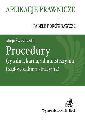 Okładka książki Procedury (cywilna, karna, administracyjna i sądowoadministracyjna)