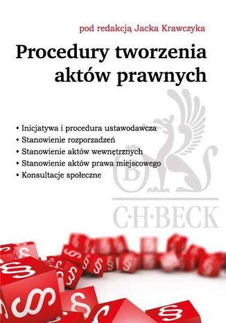 Okładka książki Procedury tworzenia aktów prawnych