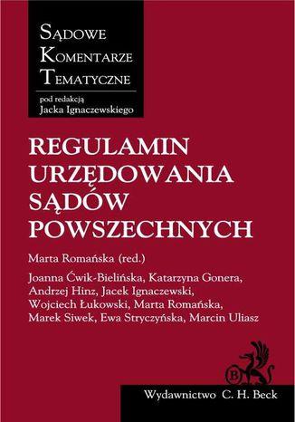 Okładka książki/ebooka Regulamin urzędowania sądów powszechnych