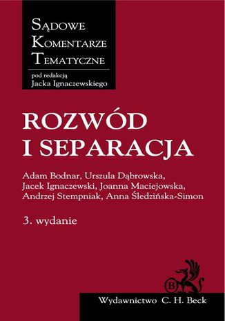 Okładka książki/ebooka Rozwód i separacja
