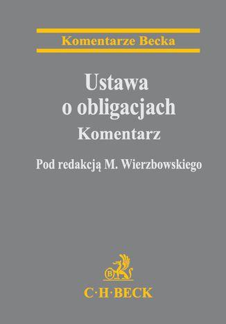 Okładka książki/ebooka Ustawa o obligacjach. Komentarz