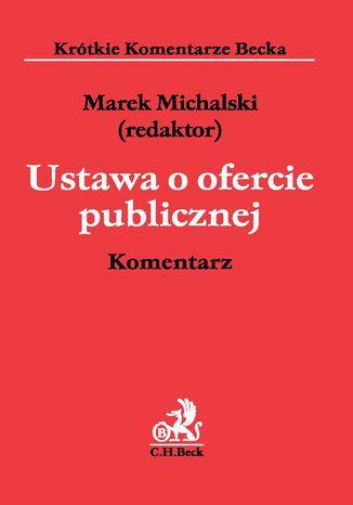 Okładka książki Ustawa o ofercie publicznej. Komentarz