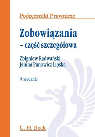 Okładka książki/ebooka Zobowiązania - część szczegółowa