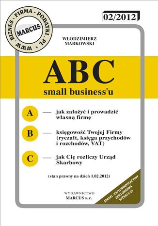 Okładka książki/ebooka ABC small business'u 2012