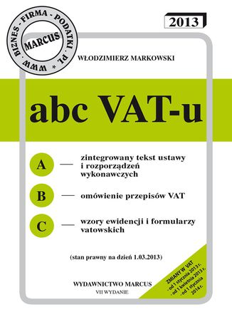 Okładka książki/ebooka ABC VAT-u 2013