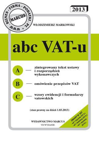 Okładka książki ABC VAT-u 2013