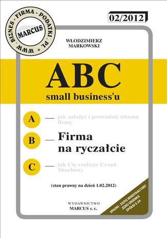 Okładka książki ABC - Firma na ryczałcie 2012