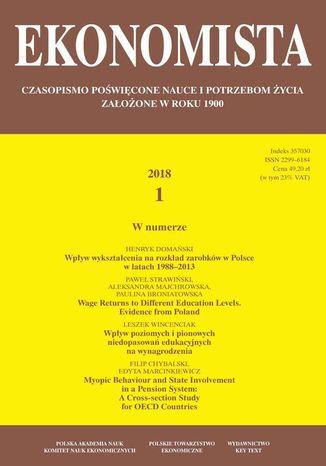Okładka książki Ekonomista 2018 nr 1